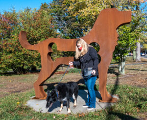 Havoc the Dog and Havoc the Sculpture