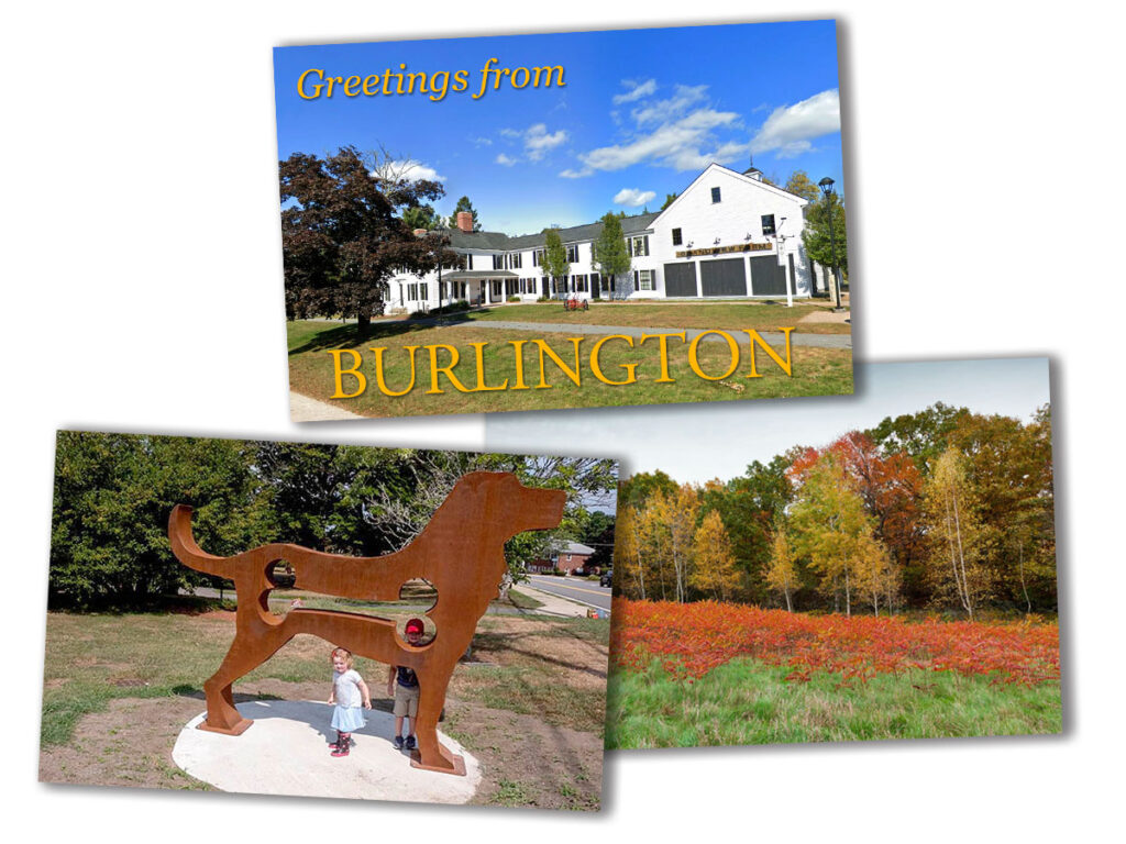 burlington ma post cards