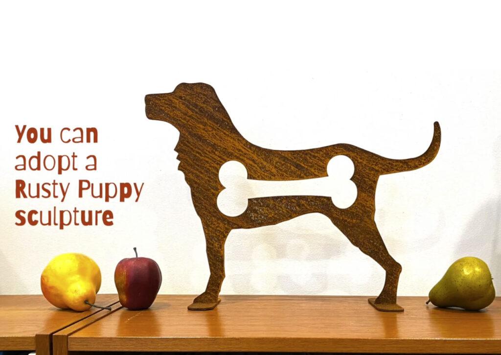 puppy sculpture